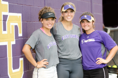 East Coweta seniors, from left, Olivia Davis, Rachel Vaughan and Ashlynn Gunter.