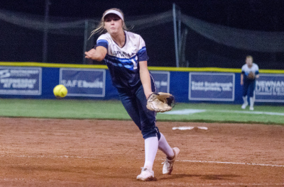 Sophomore Ansley Houston earned a complete-game victory in Game 2, allowing just two hits.