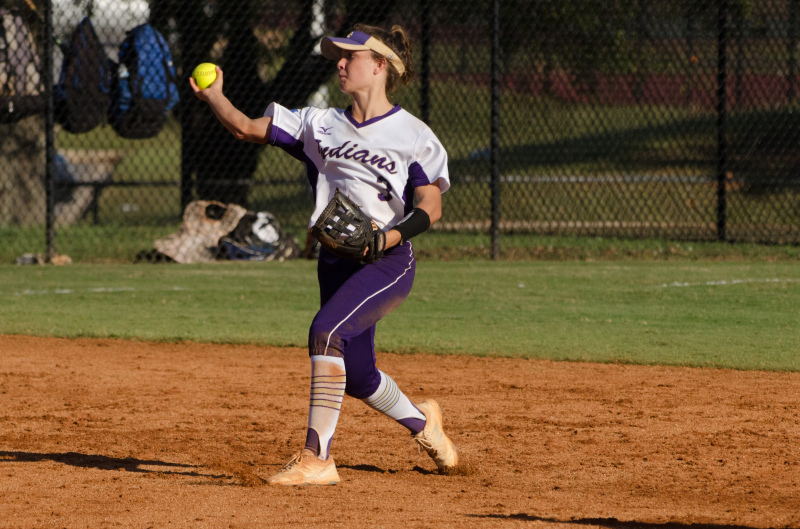 Senior shortstop Olivia Davis fires to first in time for East Coweta in Game 1.
