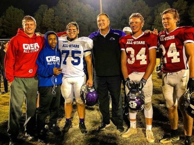 (Special) Five Trinity players joined head coach Kenny Dallas at this year's GISA All-Star Game