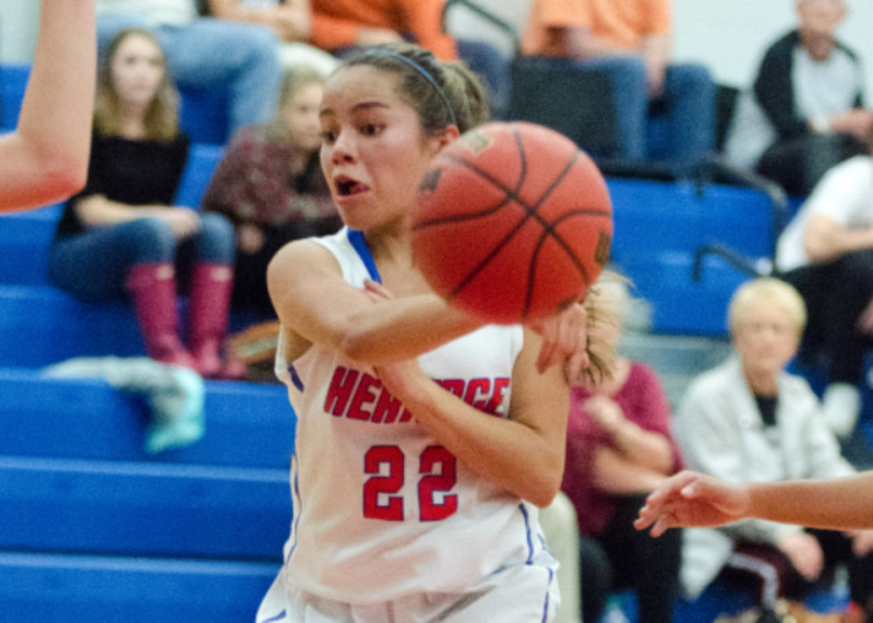 Carissa Vasquez led Heritage's girls with 12 points in a 42-5 win at Loganville Christian