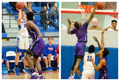 Lance Terry, left, scored 35 points for Heritage in a 70-54 win over Trinity.