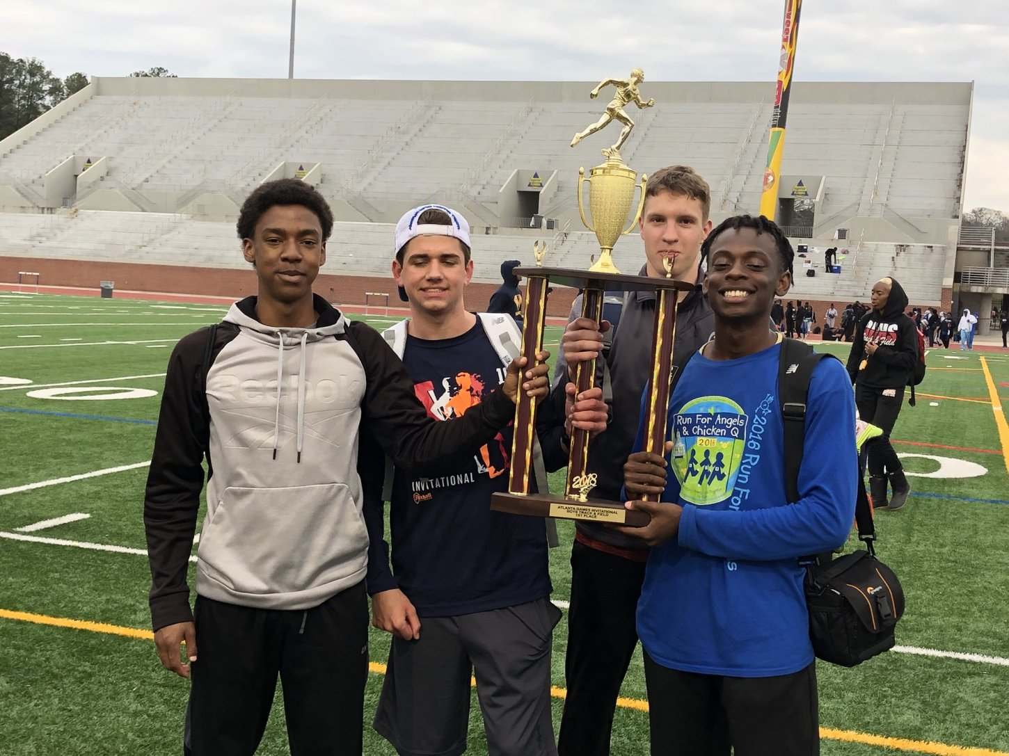 East Coweta's boys track team finished first at the Atlanta Games among 24 schools.