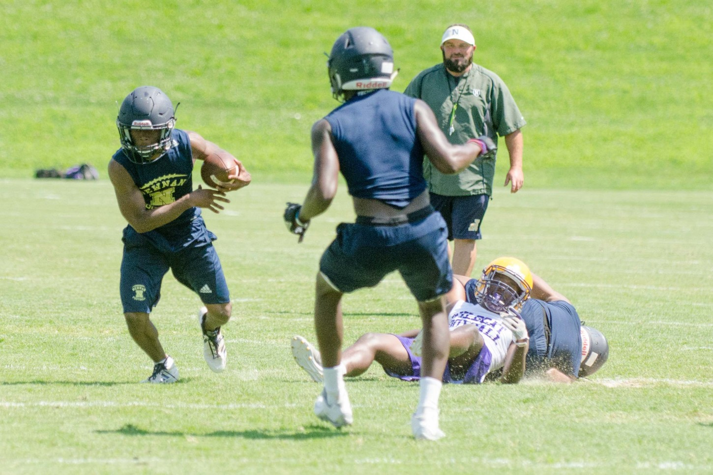 Newnan and Villa Rica met Tuesday for an hour's worth of 7-on-7 drills.