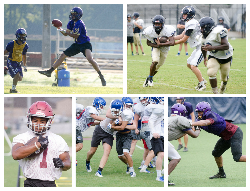 All six football programs from Coweta County will be in action Friday in scrimmage games.