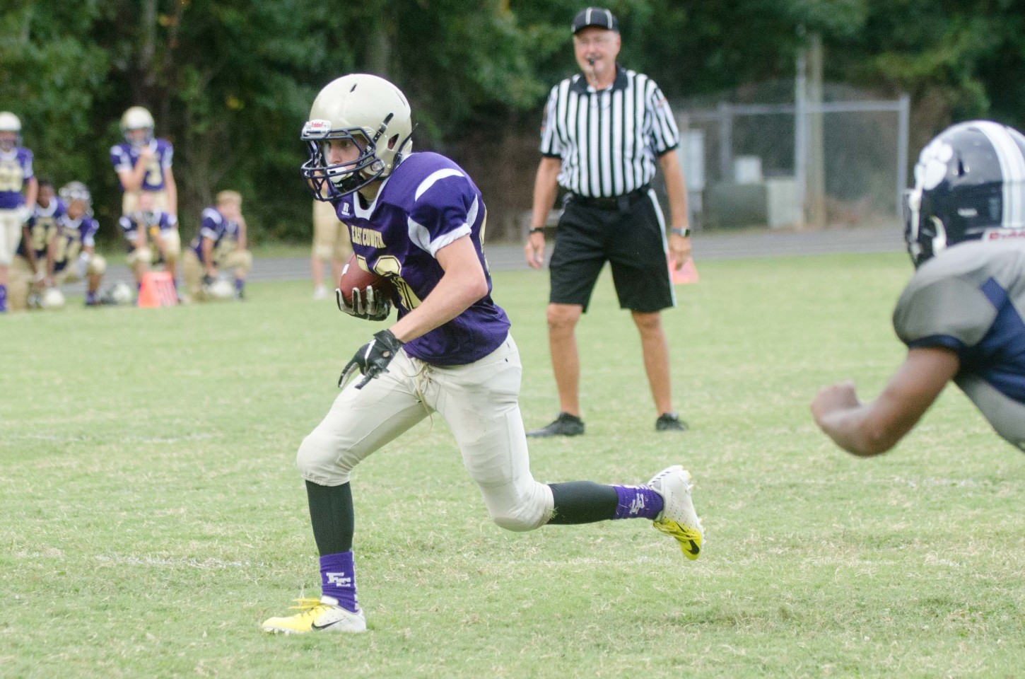 Ethan Fryer set a new individual record at ECMS with 203 of the Indians' 418 yards rushing