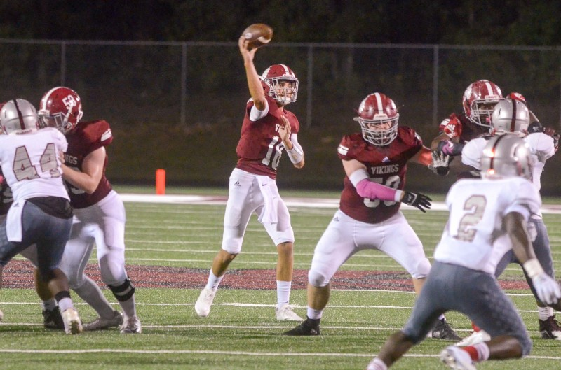 Quarterback Isaac Corbitt led a Viking offense that racked up 362 yards in a 1-point loss to Mays.