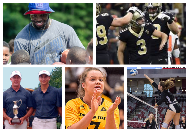 Clockwise from top left: Alex Ogletree, Wil Lutz, Cheyenne Hayes, Karlee Groover, Carson Whitton
