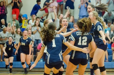 Evans rejoices after completing its championship victory over Lee in the 2018 CCMSAL finals.