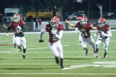 Dillon Wade returns an interception to set up one of four Northgate scores in the first quarter.