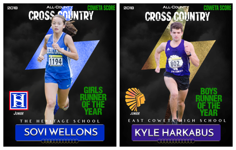 Sovi Wellons and Kyle Harkabus were named All-County Girls and Boys Runners of the Year