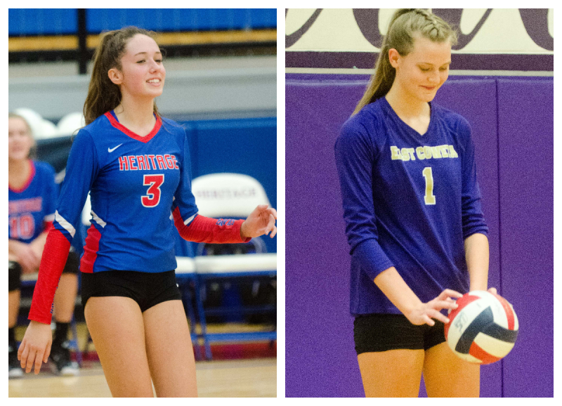 Heritage School's Genevieve Richards and East Coweta's Becca Sieckmann are Co-Players of the Year