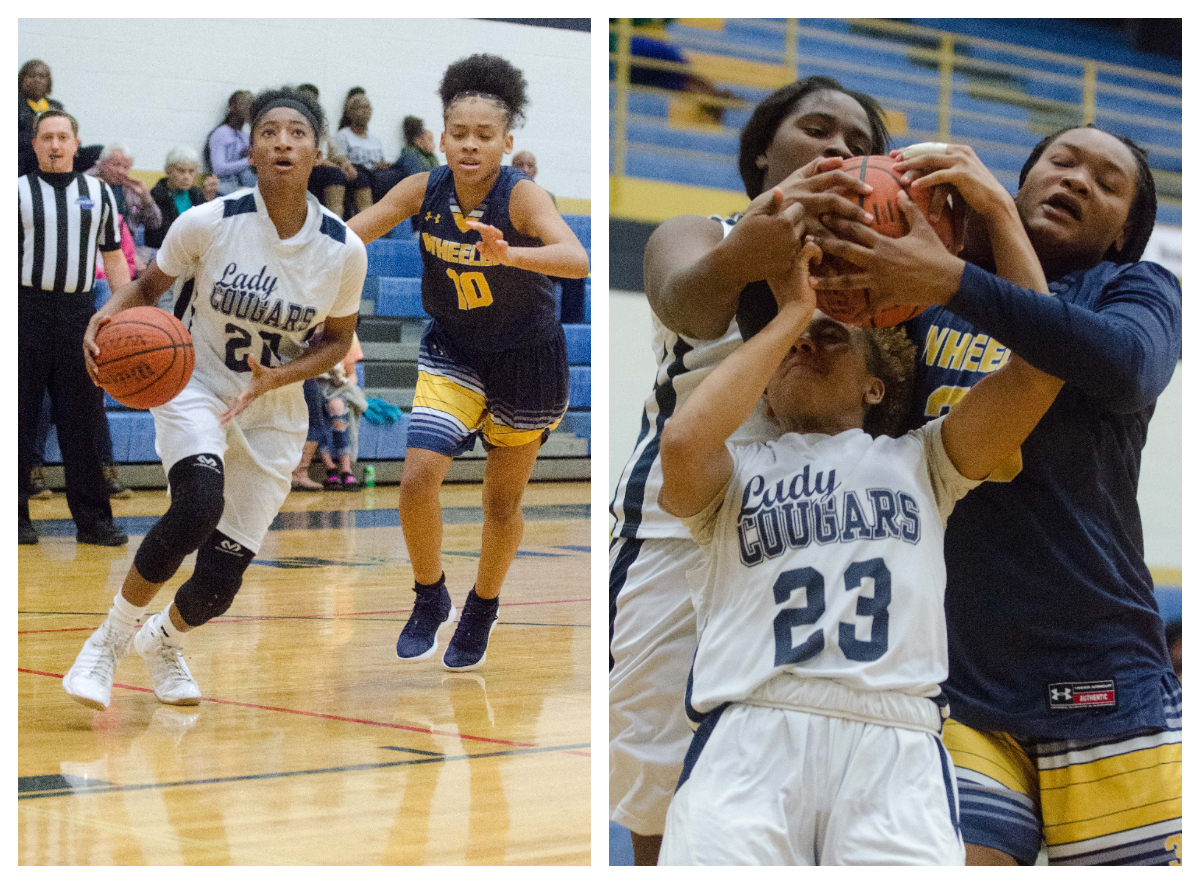 K.K. Madrey (left) had 20 points for Newnan in a 53-40 victory over Wheeler in its region opener.
