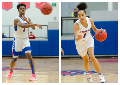 Kasen Jennings scored 13 points for the Hawks and Aaliyah Ferrell had five for Heritage's girls.