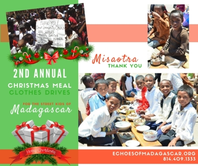 Christmas Meal Outreach for the street kids of Madagascar