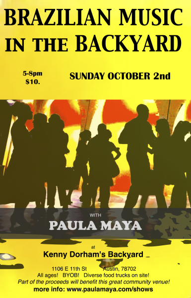 Brazilian Music in the Backyard with Paula Maya poster