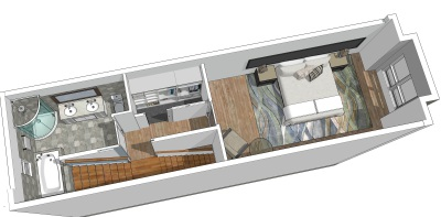 3D renderings. Floor Plan