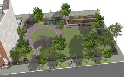 3D rendering - Letterly Street Park, Philadelphia