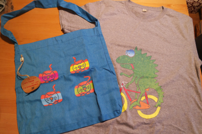 Prints on bag & T-shirt