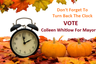 DON'T FORGET TO TURN BACK THE CLOCK!