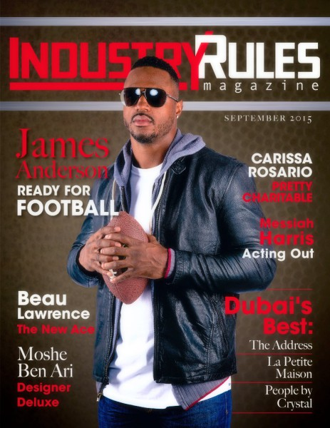 James Anderson, NFL, New Orleans Saints, Industry Rules Magazine