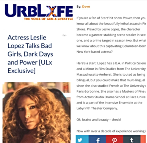 Actress Leslie Lopez