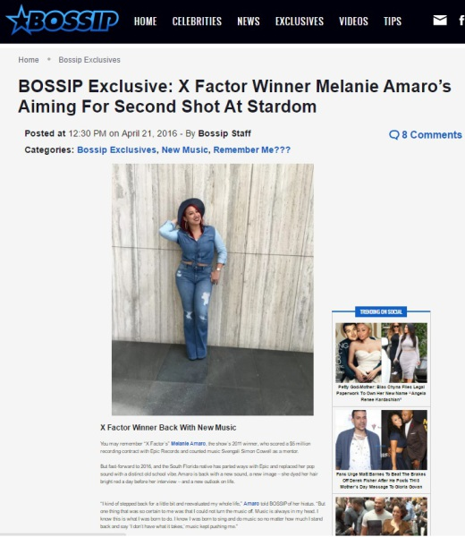 X Factor Melanie Amaro Bossip