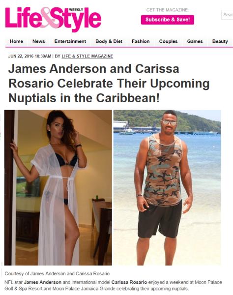 James Anderson, Carissa Rosario, Tene Nicole, Life&Style,