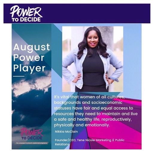 Nikkia McClain, Tene Nicole Marketing and Public Relations, 2019 Power Player