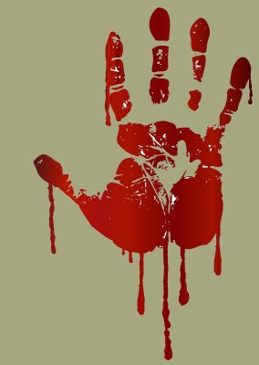 Bloody hand - image