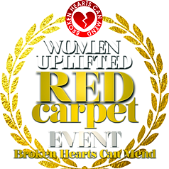 Woman Uplifted Red Carpet Gala