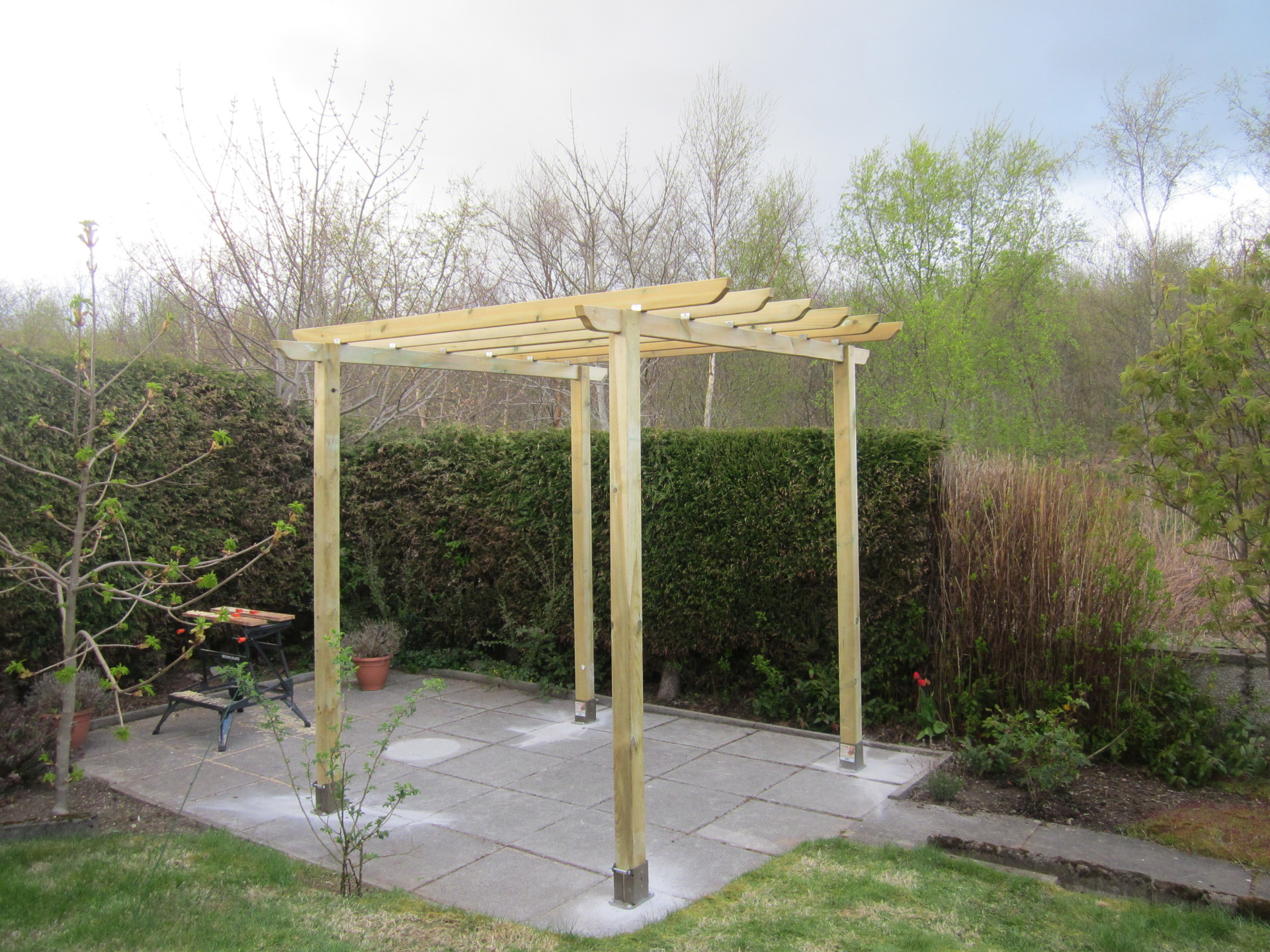 garden pergola, garden furniture, garden furniture assembly