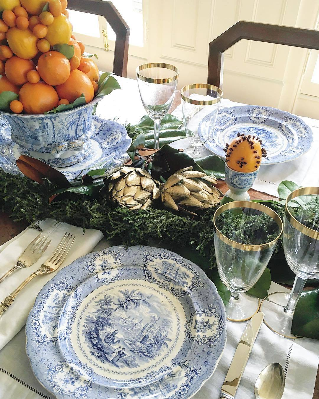 A New England Christmas Table by Lisa Hilderbrand