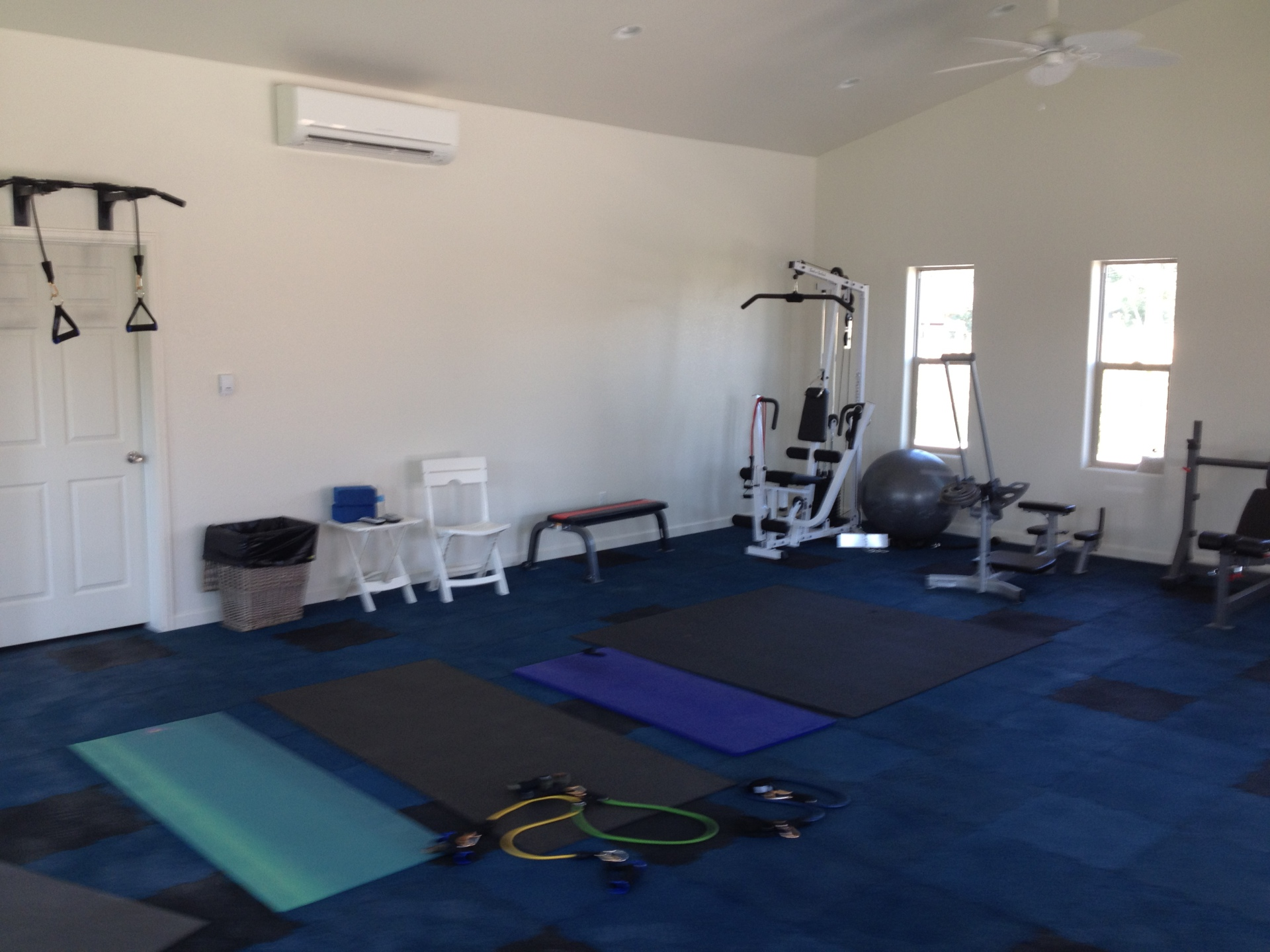 Inside the Pool House Gym