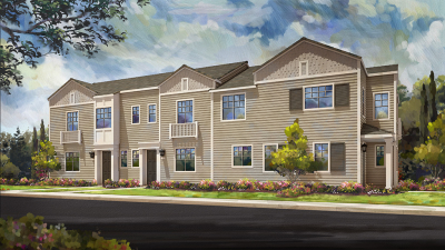 Just Sold!  Brand New Chesapeake Village Townhome located in Napa Lot 21