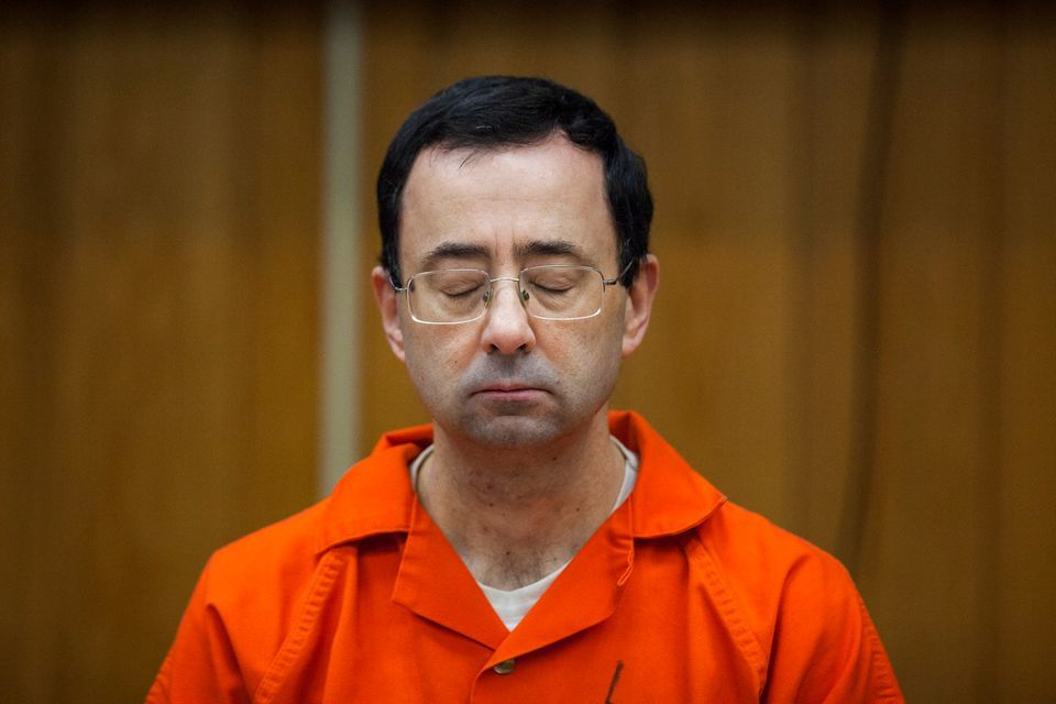 Father of three pounces at Larry Nassar during sentencing