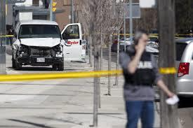 Van kills ten people in Toronto