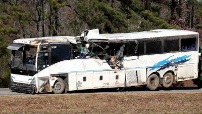 Child Killed when Football Team bus Crashes in Arkansas
