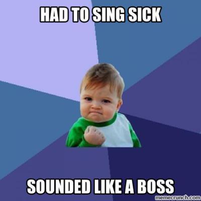 Singing When Sick