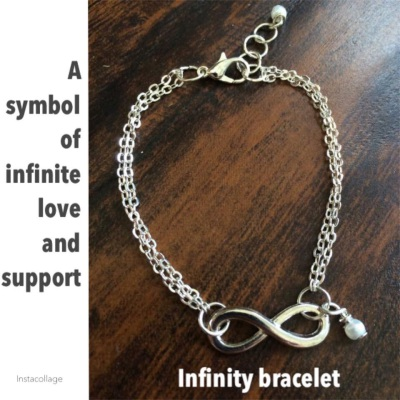 Custom made jewelry (Infinity bracelet)