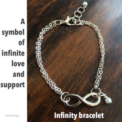 Custom made jewelry (Infinity bracelet)