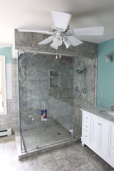 Large Frame-Less Shower Enclosure