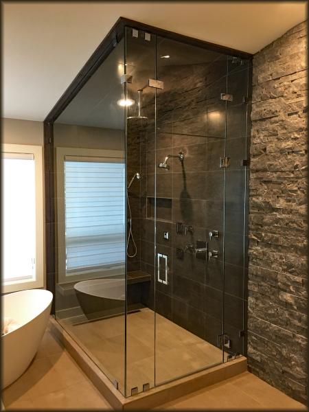 Large Steam Shower With Euro Glass