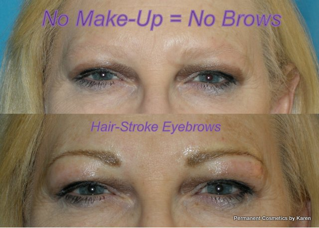blonde eyebrows before after