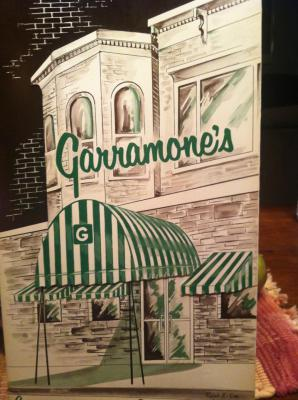 Front of restaurant on the menu cover in 1948