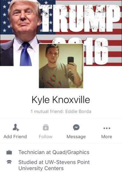 Kyle Knoxville - Man, Mith, Fake Facebook Account