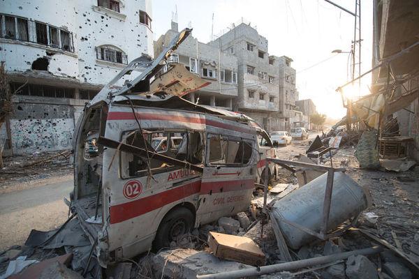 Destroyed Ambulance