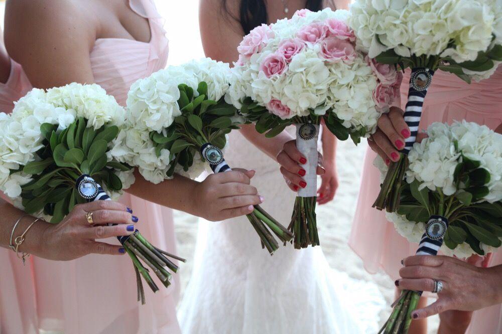 Bridesmaids wedding party polished nails