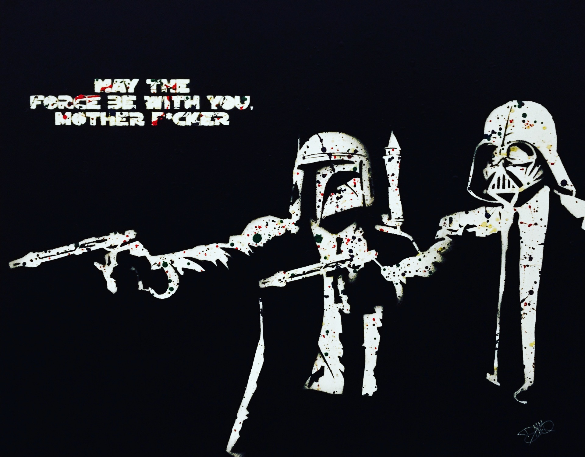 "May The Force Be With You, Mother F*cker   (28""x22"")"
