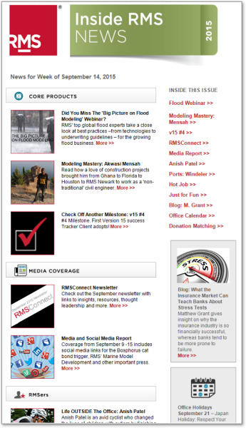 RMS' Weekly Newsletter